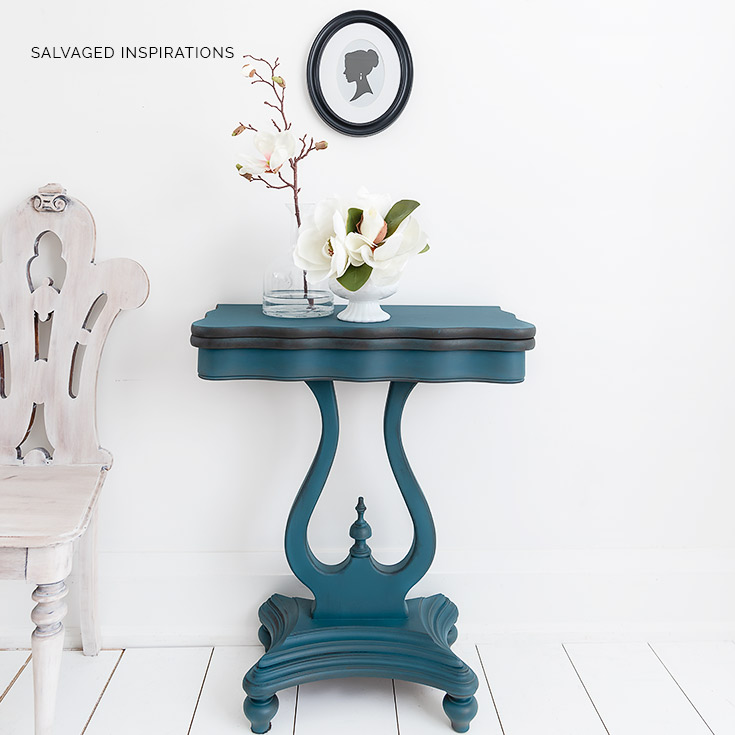 Spin and Flip Table Painted Table Makeover IG