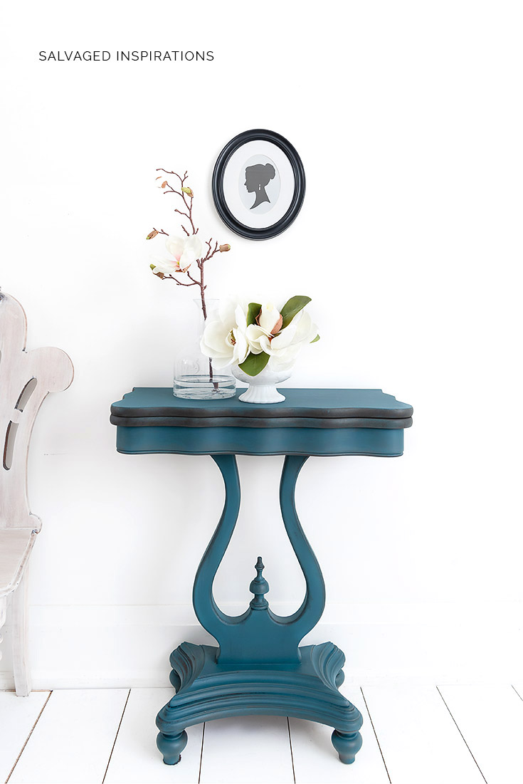Spin and Flip Table Painted Table Makeover1
