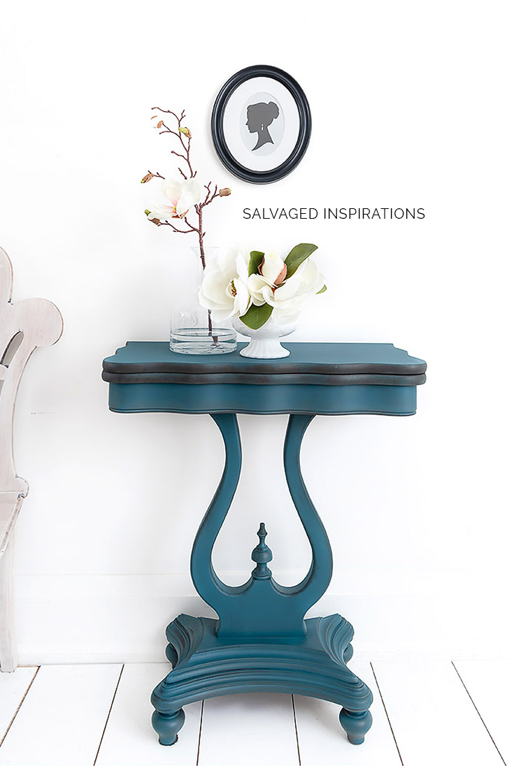 Spin and Flip Table Painted Table Makeover2