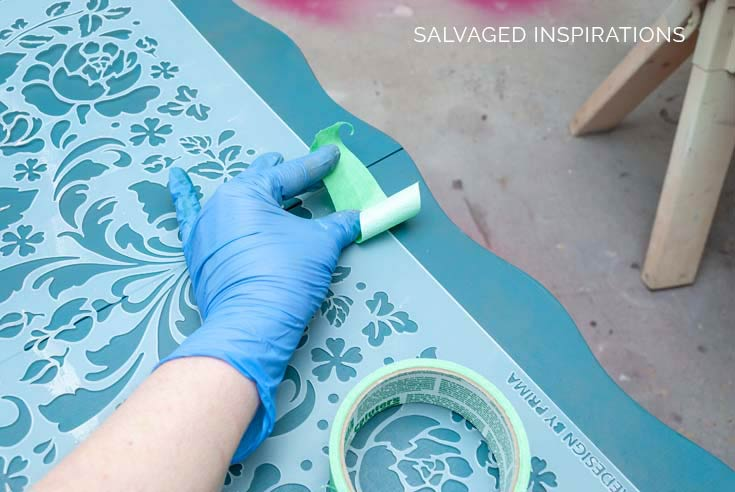 Stenciling Table Top