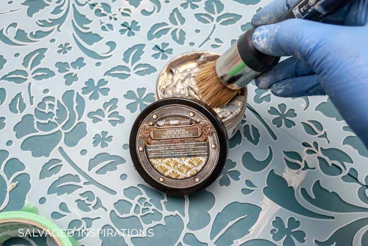 White Gold Icing Paste w Stencil