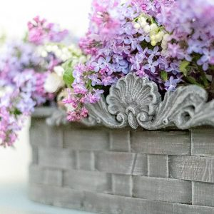 Close Up of Thrift Basket Makeover