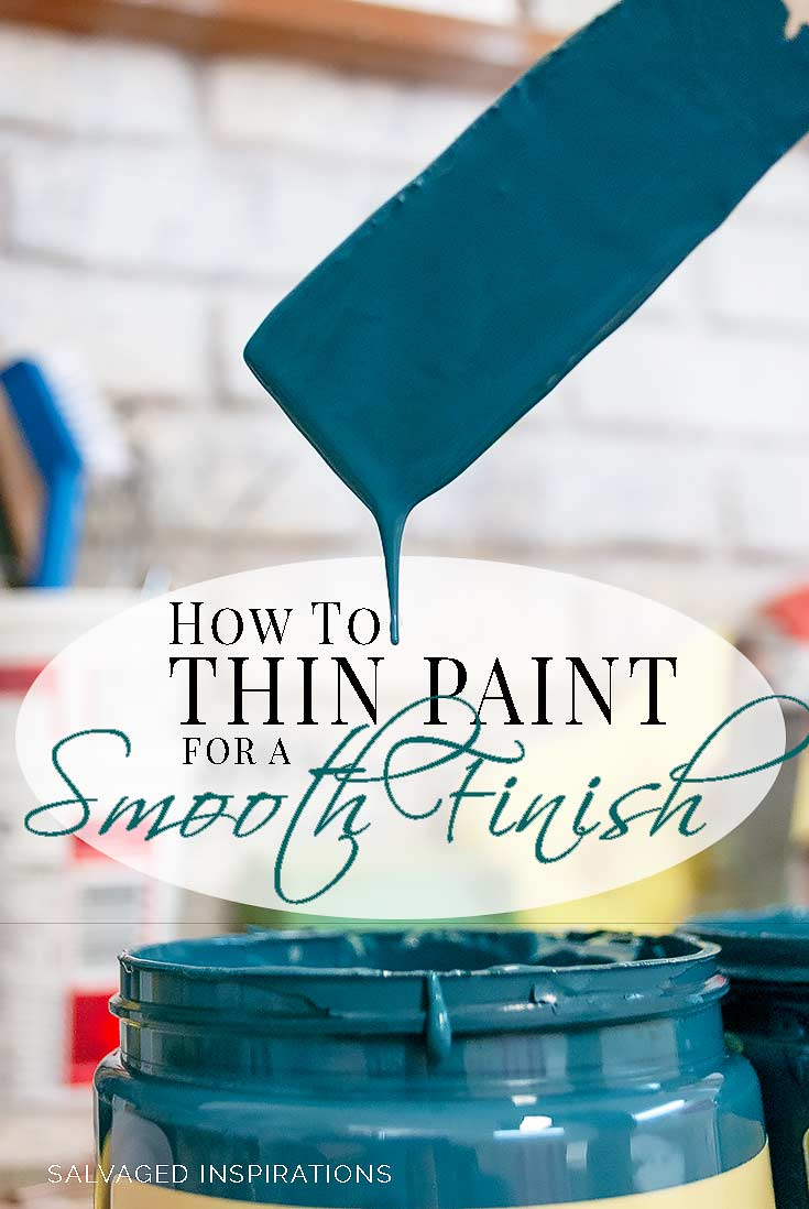 How To Thin Paint for a SMOOTH Finish txt