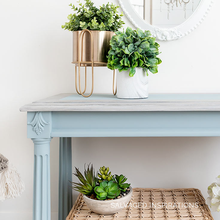 Painted Hall Console Table Makeover
