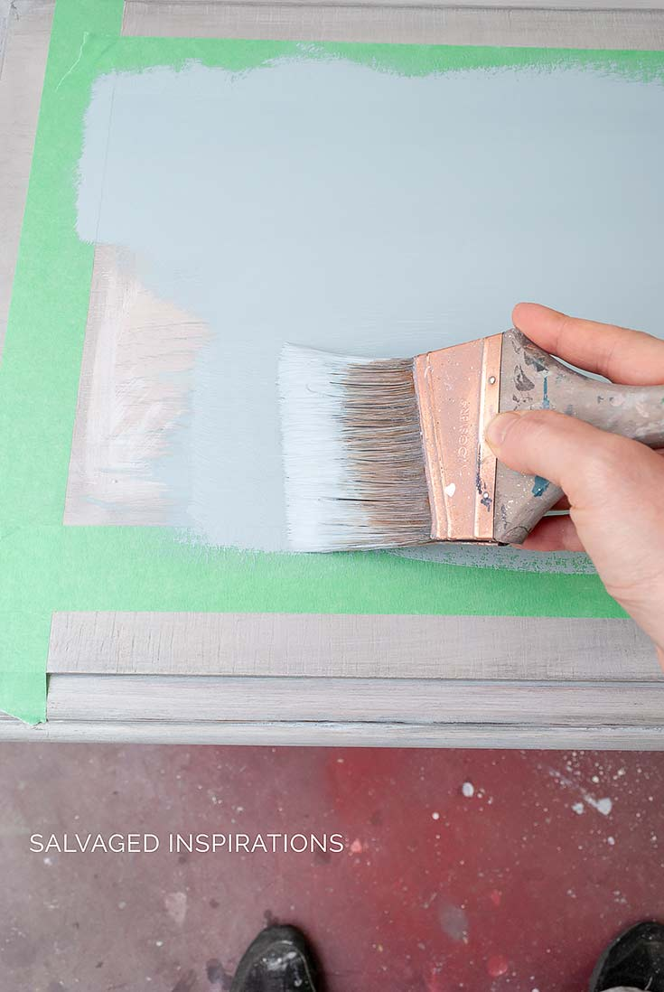 Painting Table in Savannah Mist Chalk Paint