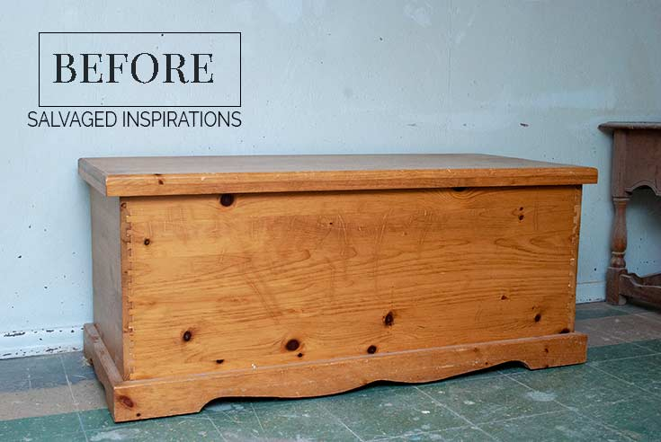 Pine Blanket Chest Before