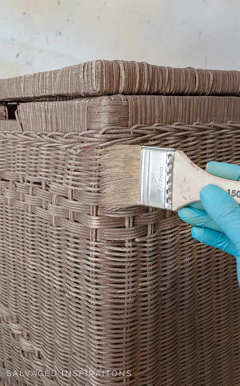 Dry Brushing Faux Natural Wicker