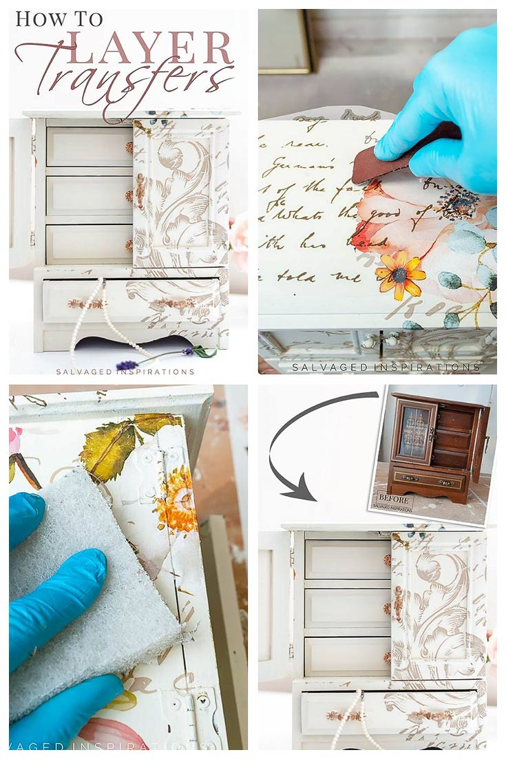 How To Layer Furniture Transfers on Your Projects