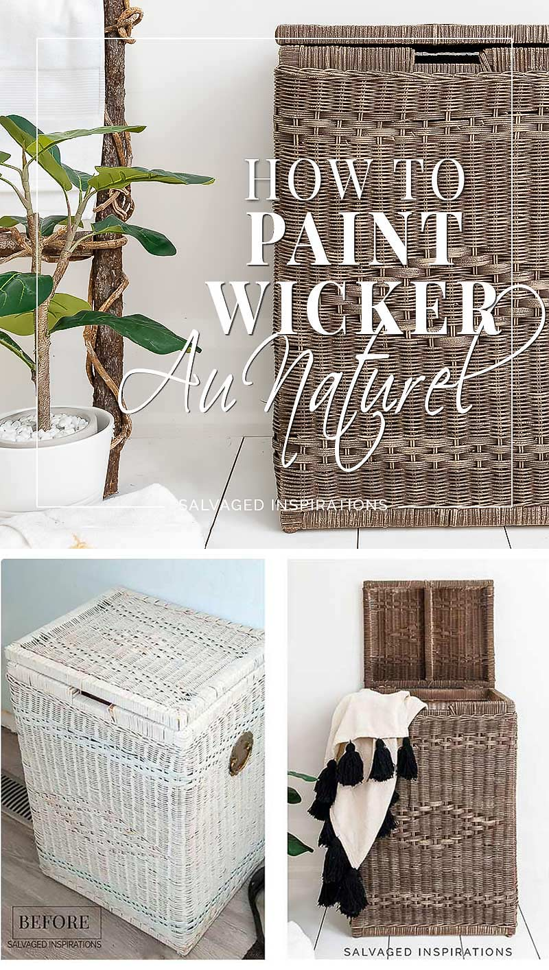 How To Paint Wicker Au Naturel Pin