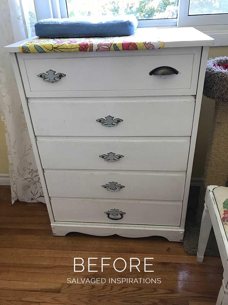 Plain White Dresser Before