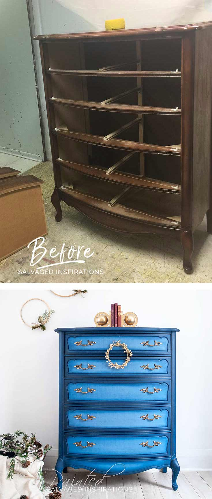 ReStore Blueberry Provincial Dresser - Before