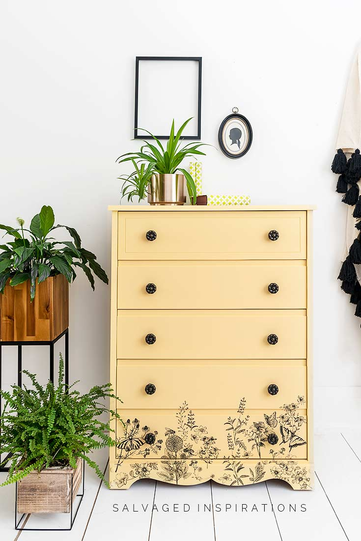 Rebel Yellow Painted Dresser 2020