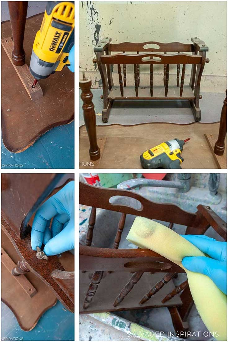 Removing Table Top From Magazine Rack