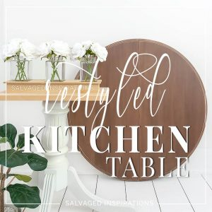 Restyled Painted Kitchen Table