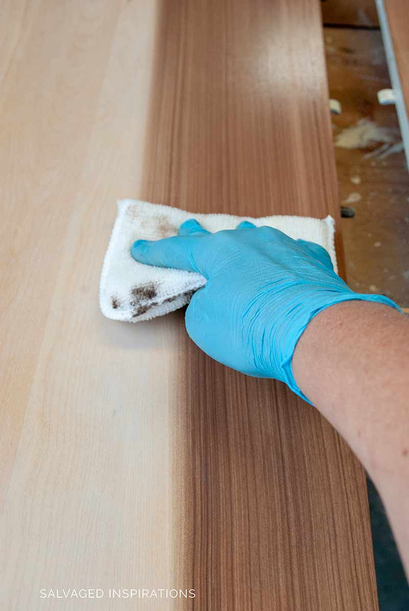 Staining Wood Kitchen Table Top
