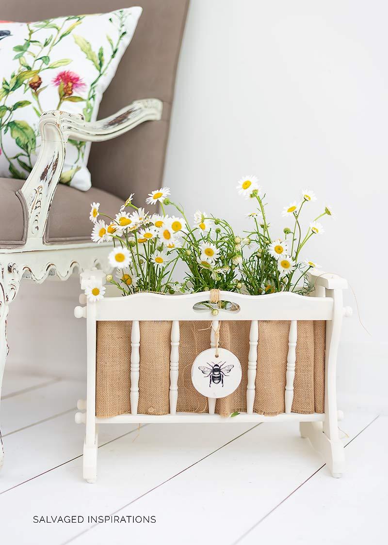 Wooden Magazine Rack Upcycled Planter