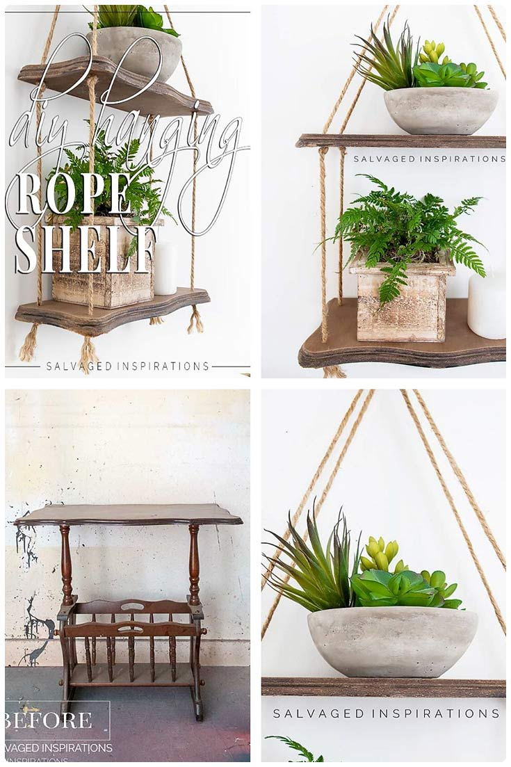 DIY Hanging Rope Shelf - How To Tutorial