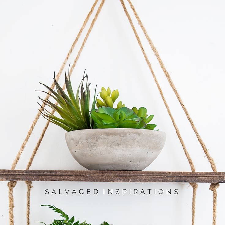 DIY Hanging Rope Shelf IG