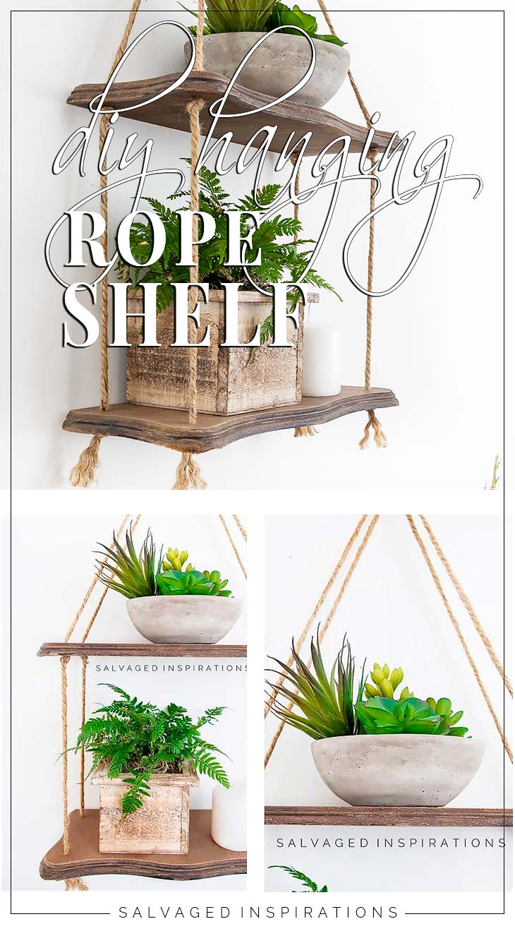 DIY Hanging Rope Shelf PIN