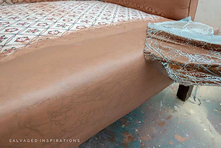 Faux Leather Texture on Upholstery Fabric