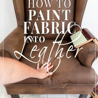 How To Paint Fabric To Look Like Leather