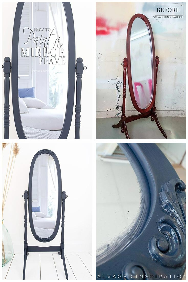 How To Paint A Mirror Frame Salvaged Inspirations