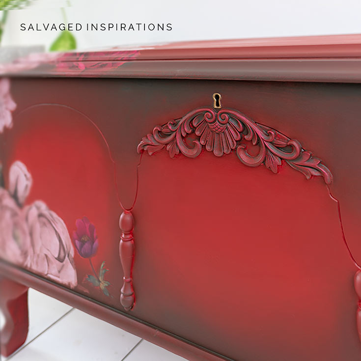Painted Cedar Chest w WoodUBend
