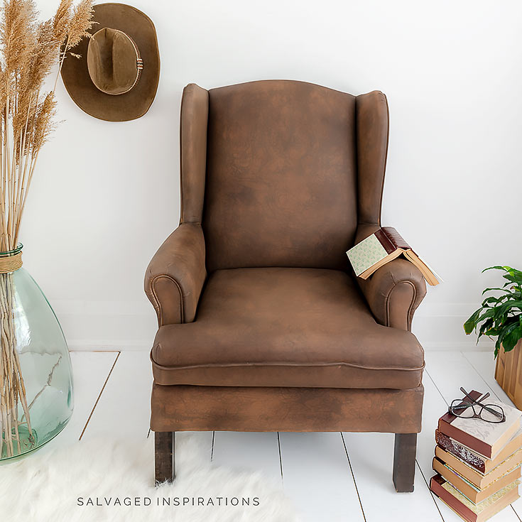 Painted Faux Leather Chair IG