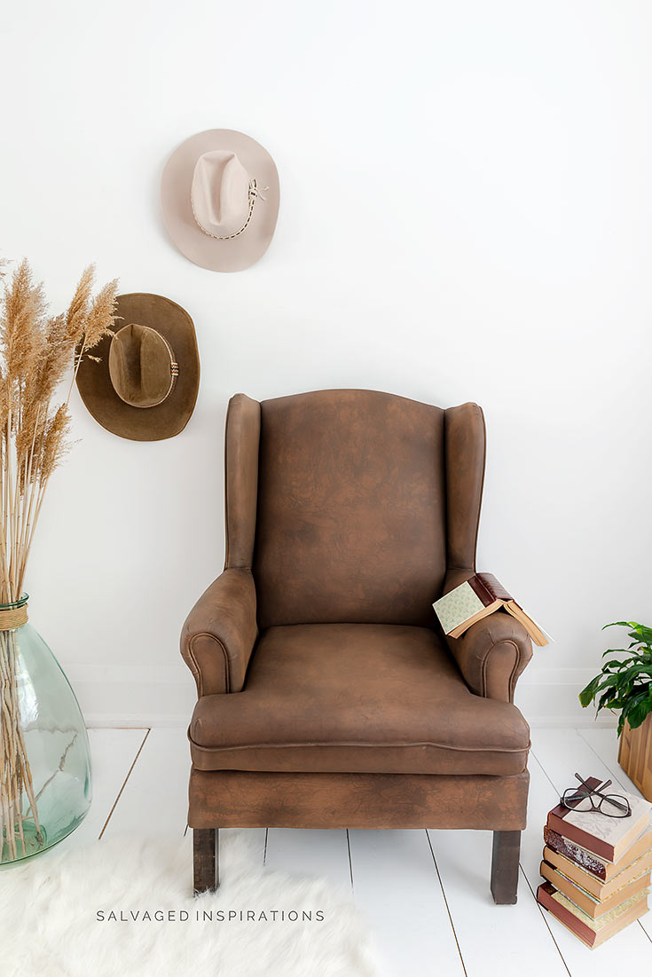 Painted Faux Leather Chair