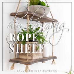Side View of DIY Hanging Rope Shelf txt