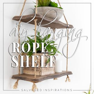 Side View of DIY Hanging Rope Shelf txt