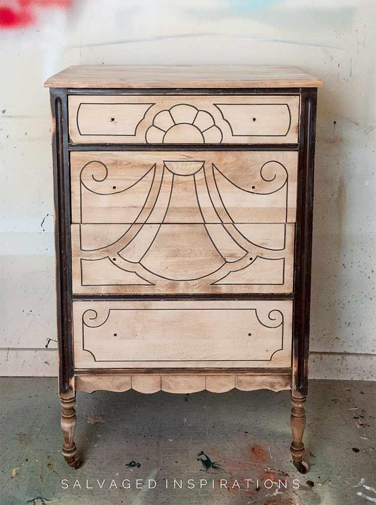 Bleached Wood Dresser In Progress