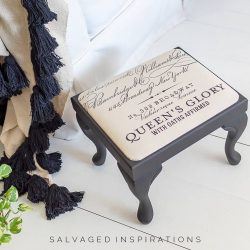 Caviar Foot Stool w Parisian Transfer Fabric IG
