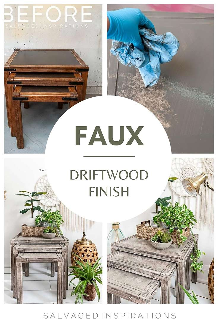 FAUX DRIFTWOOD FINISH COLLAGE
