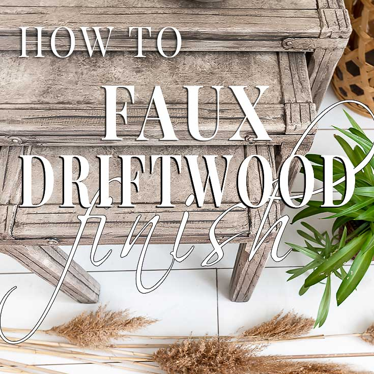 How To Faux Driftwood Paint Finish