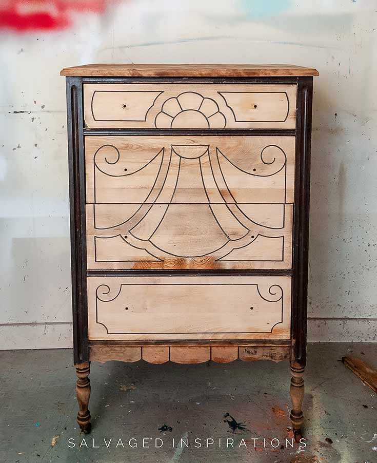 Vintage Dresser w Bleached Wood