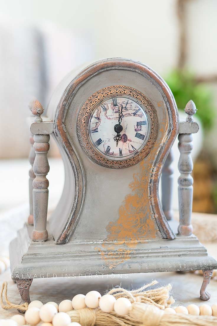 Clock Makeover by Salvaged Inspirations