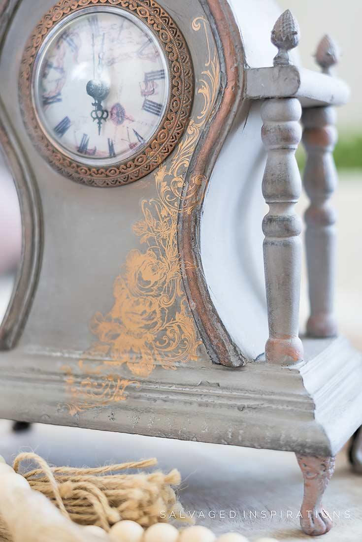 Painted Vintage Clock