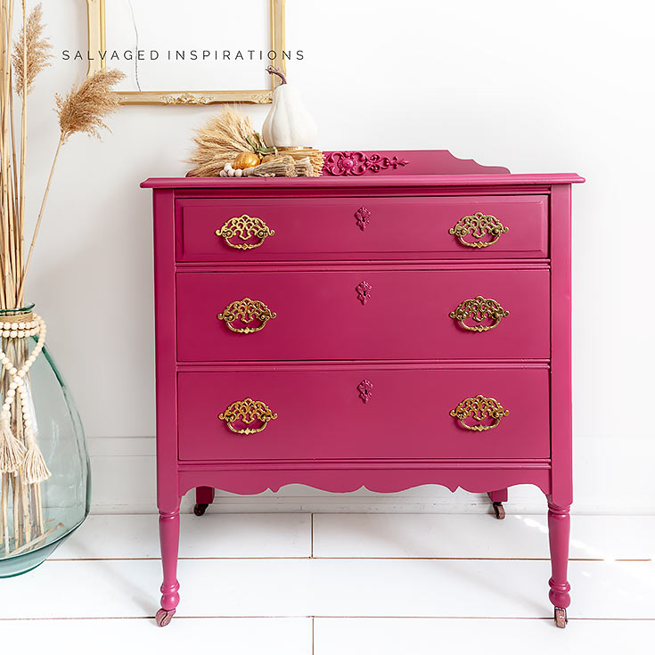 Plum Crazy Painted Fall Dresser IG