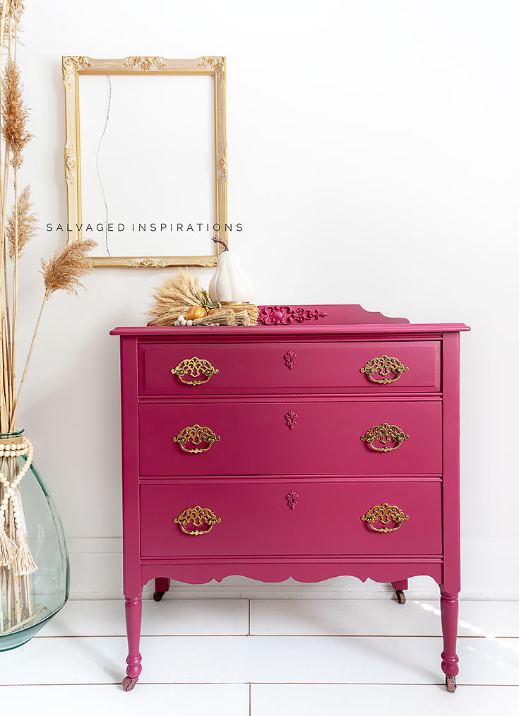 Plum Crazy Painted Fall Dresser