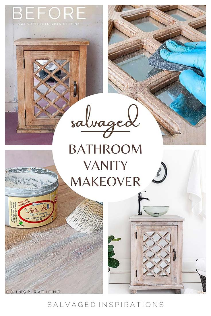 Salvaged Bathroom Vanity Makeover Step by Step