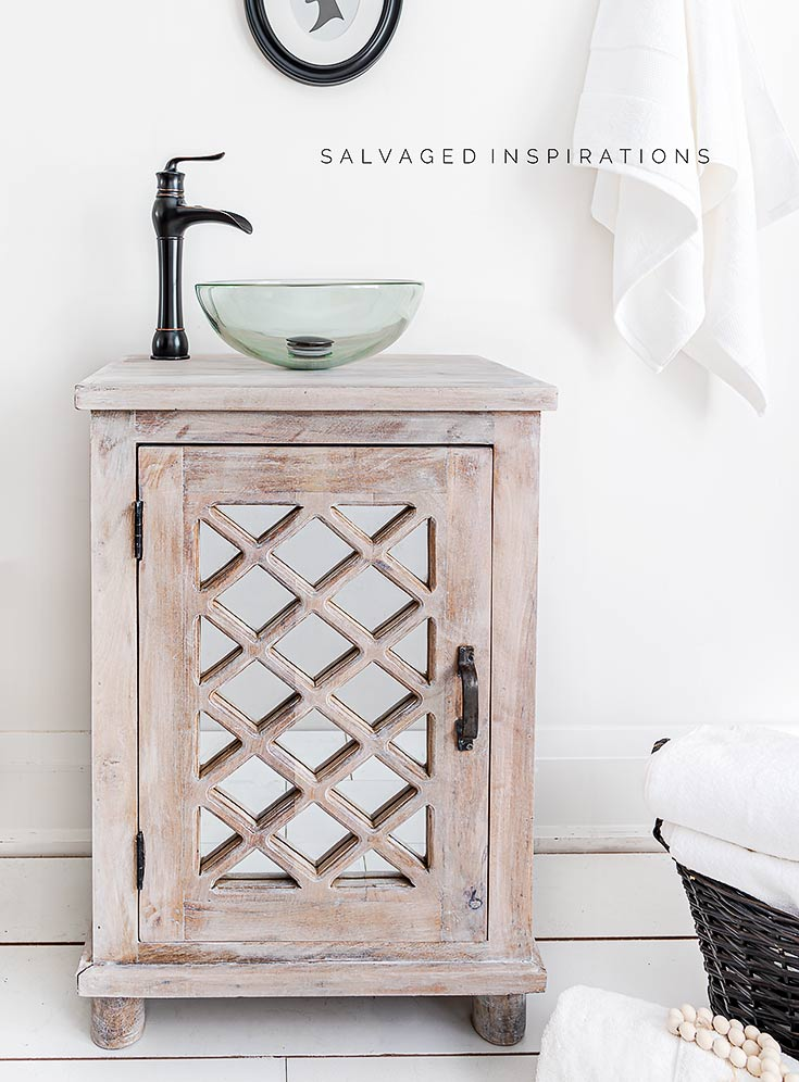 Salvaged Vanity Makeover SI Blog