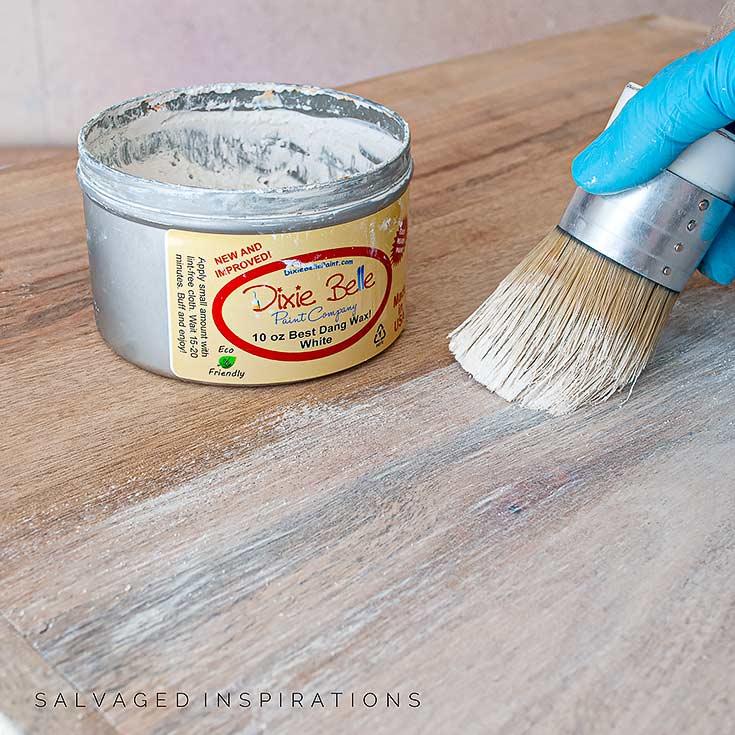 White Waxing Wood Vanity
