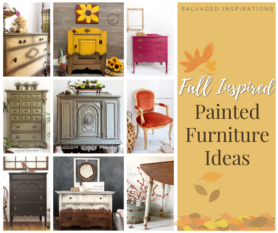fall inspired painted furniture (1)