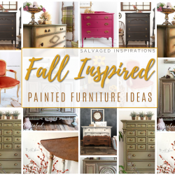 fall inspired painted furniture (3)
