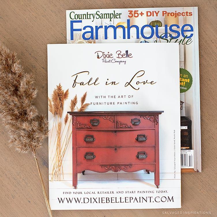Country Sampler Farmhouse Style Back Cover Autumn 2021
