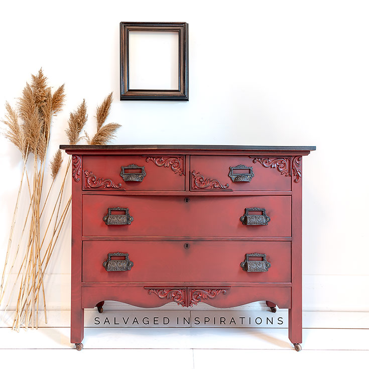 Dixie Belles Rustic Red Paint IG _ Dresser Makeover