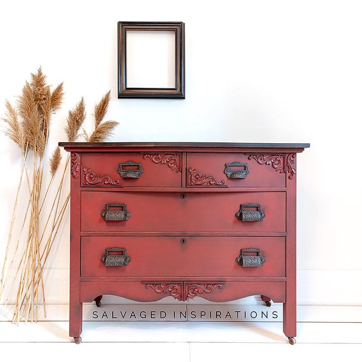 Dixie Belles Rustic Red Paint IG _ Dresser Makeover