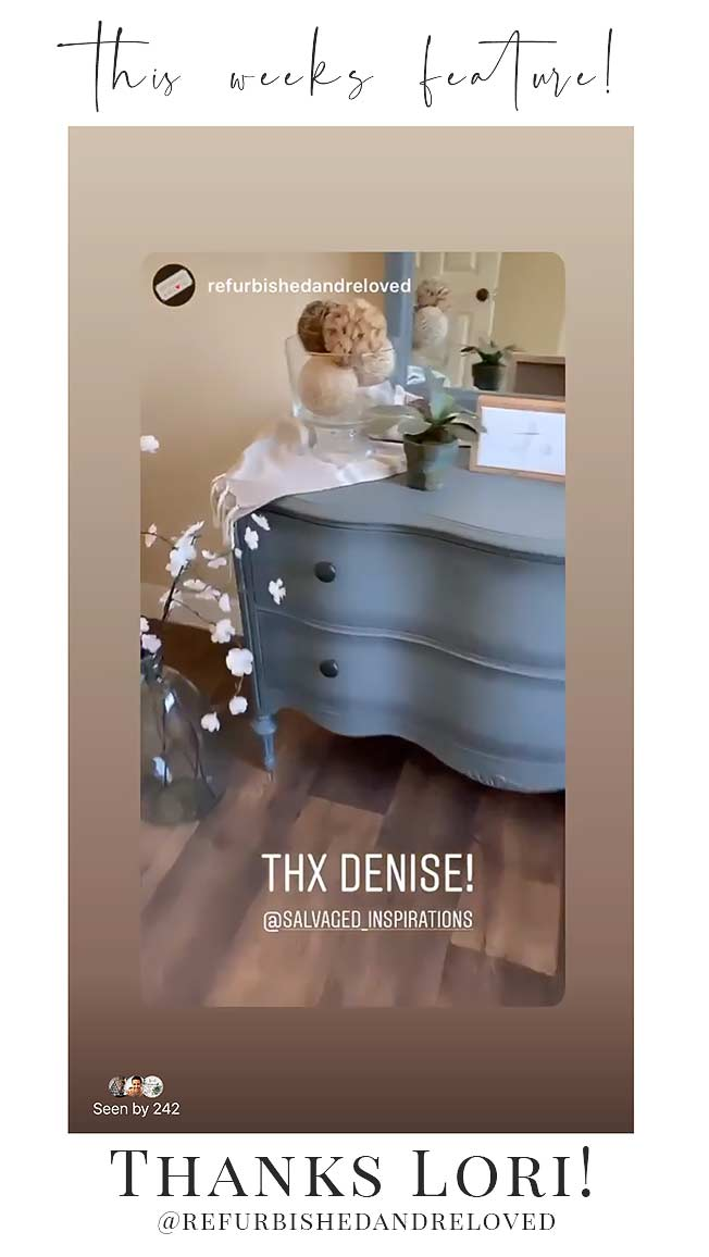 IG Story Feature Refurbished and Reloved on Salvaged Inspirations