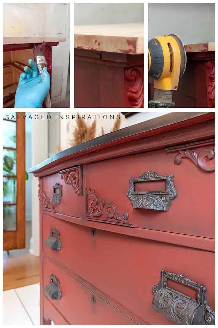 Painting-Under-a-Dresser-Top